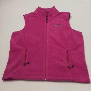 Vineyard Vines pink fleece vest size M